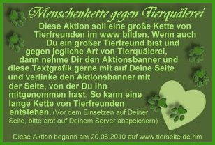 aktion tierfreunde Text